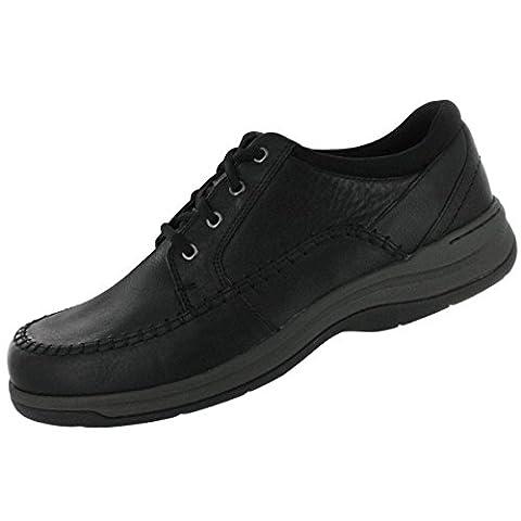 Clarks Men's Portland 2 Tie Casual Shoe,Black Leather,8 W US - 2 Leather Casual Shoe