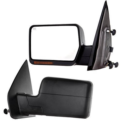 SCITOO Towing Mirror fit 2004-06 Ford F-150 Rear View Mirror Automotive Exterior Mirrors Power Heated Front LED Signals (Pair) ()