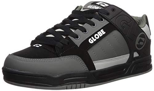 Globe Men's Tilt Skate Shoe, Black/Grey Mix, 8.5 Medium US (Nubuck Shoes Black Skate)