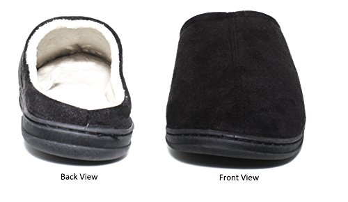 Blue Star Clothing Men's Comfort Padded Memory Foam Suede Clog Slipper w Slip-Resistant Rubber Bottom Sole   Indoor/Outdoor by Blue Star Clothing (Image #1)