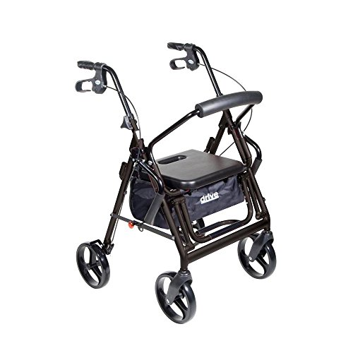 Duet Folding Aluminum Frame 4 Wheel Rollator 795BK 1 Each, Black