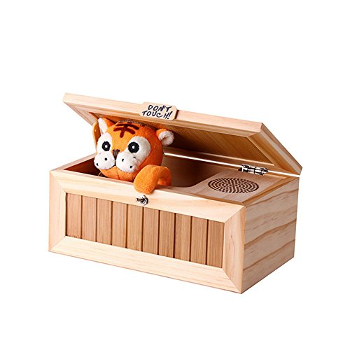Tiger Battery - Funny Tiger Don't Touch Me Useless Box by Jiquan, Leave Me Alone Machine Funny Toy, Great Birthday & Gag Gift for Children or Adults