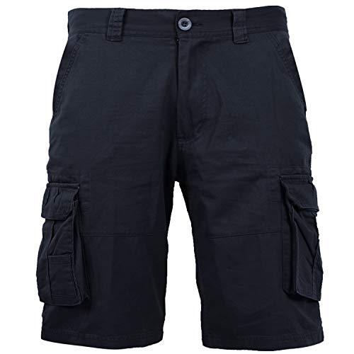 Coevals Club Men's Casual Cargo Shorts Cotton Twill Multi Pockets Outdoor Pants (#4 Dark Blue, - Short Pants Ripstop
