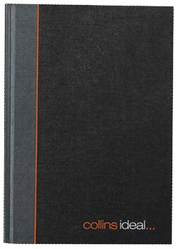 Collins Ideal A4 Feint Ruled Manuscript Book - 192 Pages,Grey