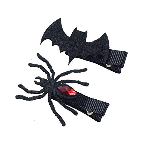 Patiky Halloween Cartoon Hair Clips Hairpin Hair Accessories Cosplay Costume WJR06 (Spider + Bat) ()