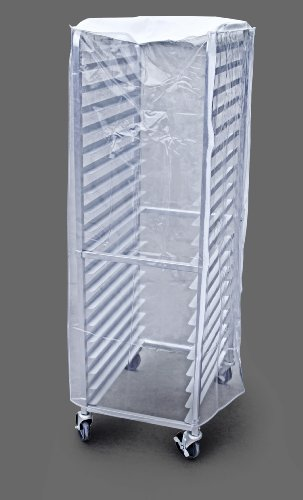 New Star Foodservice 36565 Commercial Sheet Pan Rack Cover, PVC, 20-Tier, 28 x 23 x 61 inch, Clear (Cover Rack)