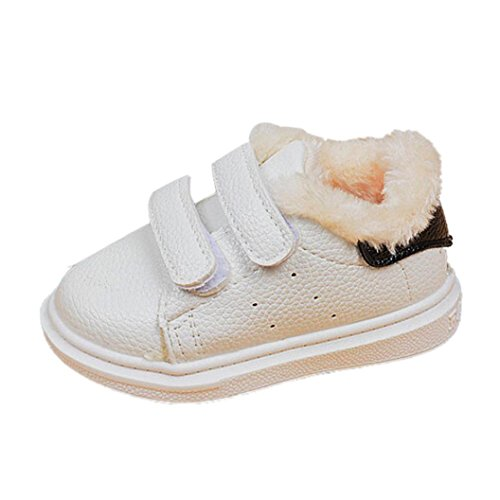 For 1-6 Years old Boys Girls,Clode® Fashion Infant Toddler Kid Boys Girls Cute Warm White Baby Hard Sole Sneaker Shoes