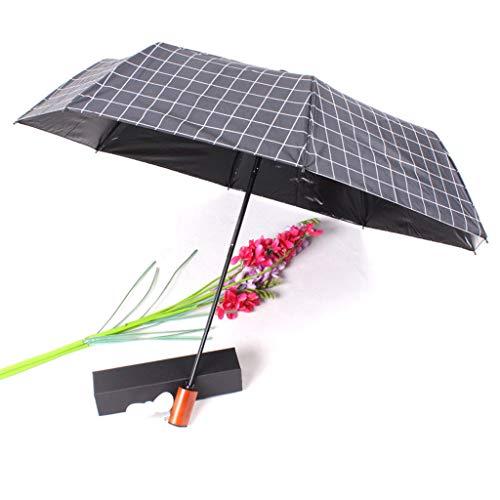 CapsA Travel Umbrella,Charging Folding Umbrella with Fan 2000 MAh to Send Fan Windproof Reinforced Quick-Drying Lightweight Sun Rain Umbrella (Black) (For Patio Ft)