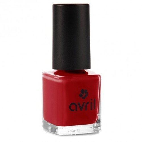 AVRIL - Vegan Nail Polish - Chemicals Free - Rouge Opera 19 - Easy Application, Not Tested on Animals - 7ml