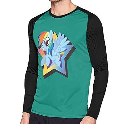 LightCa Aquarius My Little Pony Rainbow Dash Magnet Long Sleeve Contrast Print Tshirts for Mens