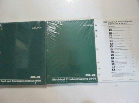 1999 Acura SLX Service Repair Shop Manual 3 Volume SET FACTORY OEM BOOKS New