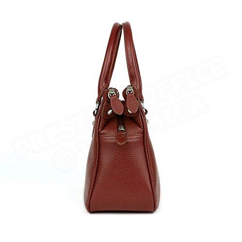 Mini sac Cabas Monaco cuir Rouge bordeaux Beaubourg