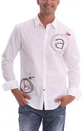 Desigual Camisa Hombre A+B Blanco M: Amazon.es: Ropa y ...