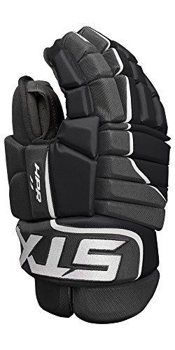 STX Ice Hockey Stallion HPR 1.1 Senior Ice Hockey Glove, Black/Black, 13'