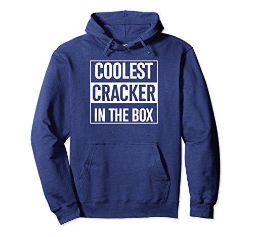 Unisex Coolest Cracker In The Box Hoodie Junk Food Humor Tee 2XL Navy