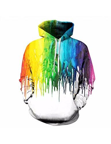 K-HS Unisex 3D Printed Pullover Hoodie Active Hooded Sweatshirts (M, Galaxy 096) (Snake Hoodie)