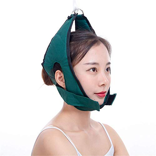 HSRG Neck Cervical Traction Belt, Adjustable Thick Cotton Cloth Pillow Fixing Strap Neck Stretch Belt for Traction of The patient's Neck, Stretching of The Cervical Spine