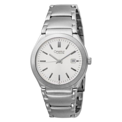 Caravelle by Bulova Men's 43B37 Bracelet Silver Dial Watch