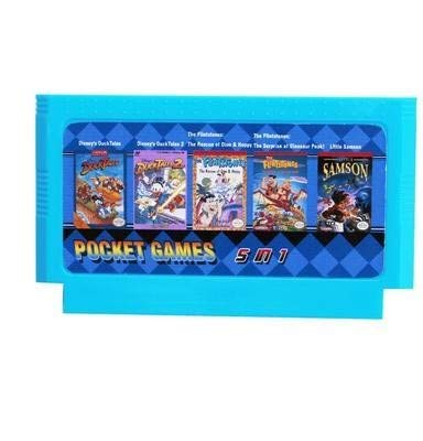 1 Duck Tales 1/2 + The Flintstones 1/2 + Little Samson Best Game Collection 8 Bit 60 Pin Game Card ()