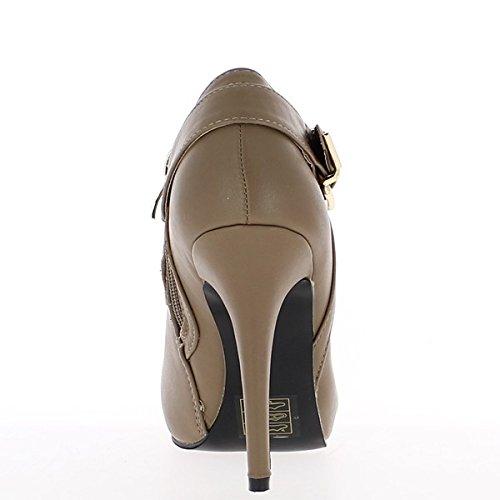 Stiefeletten Maulwürfe Frau 11cm Richelieu Absatz Stil OWgC4q0rO