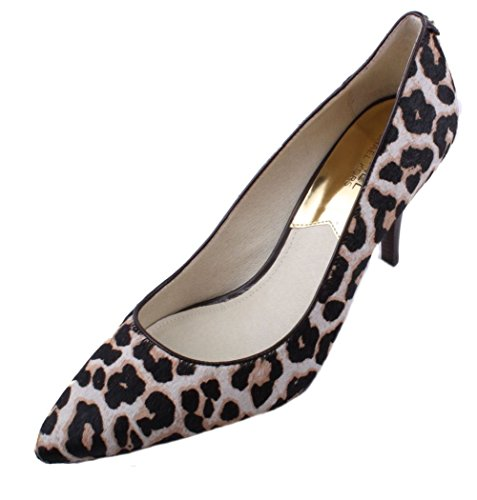 Michael Kors MK-Flex Womens Cream Printed Hair Calf Mid Heel Pumps