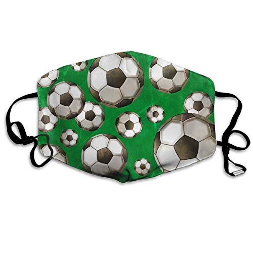 ask - Cool Soccer Seamless Graphics Polyester Anti-dust Mouth-Muffle - Fashion Washed Reusable Face Masks for Outdoor Cycling ()