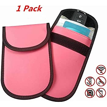 Keyless Entry Car Key Remotes Key Fobs Key Fob RFID Signal Blocking Bag Faraday Cage Anti-Hacking Assurance for Wireless Car Keys Faraday Box for Keyfobs//Device Shielding