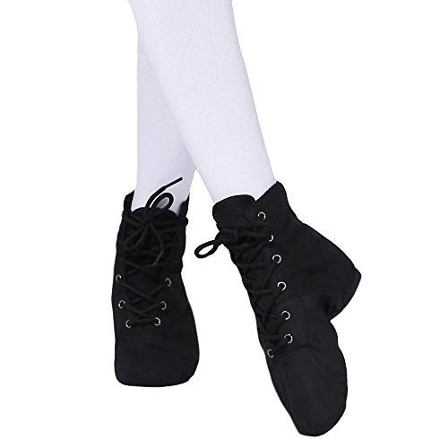 Sqiao-x- Chaussures De Danse Fond Souple Haute Aide Jazz Chaussures De Danse Adulte À La Pratique Yoga Chaussures De Danse Femme Chaussures De Toile Chaussure De Danse Black 40