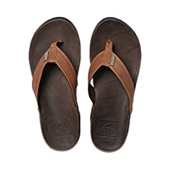 Keep your style on point for those chillest of days with the superior comfort of the Reef® J-Bay III sandal! Premium full grain leather upper. Super soft textile lining. Premium full grain leather footbed cover. Blind-stitch strap constructio...