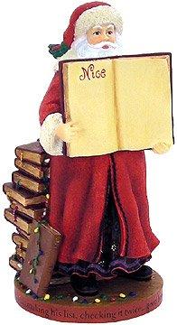Pipka Santa's Nice List Figurine 6 Inches