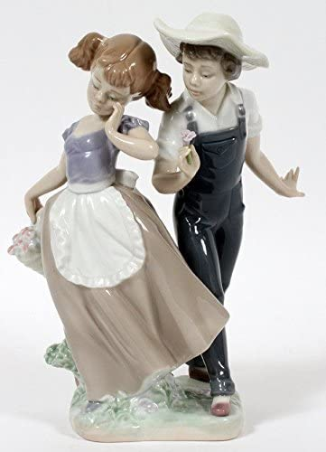 LLADRO Love in Bloom 5292 Girl Boy GLAZED Retired 1998 RV 500 MINT