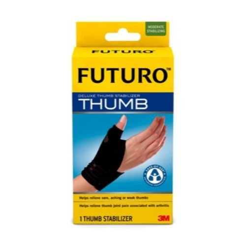 3M Health Care 45843EN FUTURO Deluxe Thumb Stabilizer, Small/Medium, Black (Pack of 12)