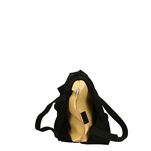 Cm Made En Italy De Aren Mujer Hombro 40x35x8 Cuero Genuino In Negro Bolso wpzBqPUzA