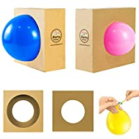 Party Zealot 2 Pack Balloon Sizes Measuring Box Tool and 100 Free Balloon Ties for Creating Perfect Balloon Arch and Balloon Column Stand