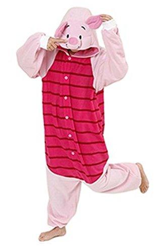 [Men Women Kigurumi Pajamas Onesies Clothing Piece suits Romper Sleepwear] (Piglet Costume)