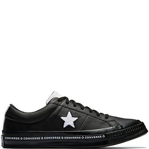Converse 001 Deporte Zapatillas Leather Negro Unisex Lifestyle Star Adulto Black White Black de One Ox 1x01qXr6