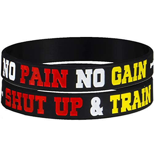 AMPM Collective | Silicone Motivational Wristbands | Rubber Inspirational Quote Bracelets | Unisex for Men Women Teens | for Daily Gym Workout Perseverance and Exercise Motivation (6 Pack) 2