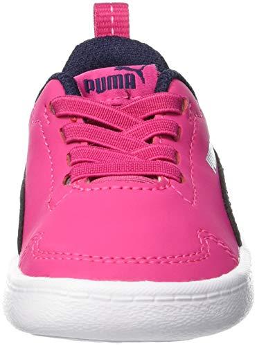 Purple beetroot Rosa White Para Zapatillas Puma Inf Niños Unisex Courtflex peacoat puma wFTxZ8qp