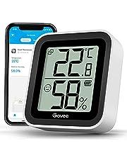 Govee Bluetooth thermometer hygrometer voor binnenshuis met mini LCD-scherm, bewaking op afstand via Govee Home app, gegevensopslag en -export, geschikt voor broeikas, magazijn, kantoor, thuis