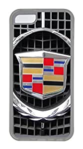 iPhone 4 4s Case, iPhone 4 4s Cases - Scratch Resistant Crystal Clear Case for iPhone 4 4s Cadillac Car Logo 5 Thinnest Ultra Flexible Soft Back Case for iPhone 4 4s