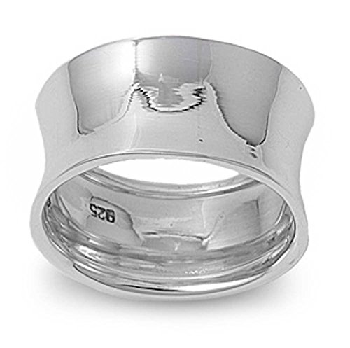 Wide Concave Ring - 1