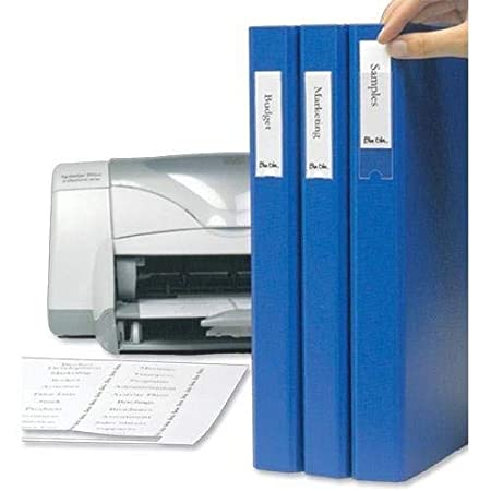 Pack of 48 3L 10311 Label Holders Polypropylene Self-adhesive with Printable Insert Cards 25x75mm Ref 10311