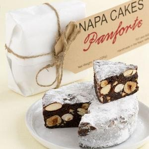 Napa Cakes Panforte, Handmade in Napa Valley, 1 lb, Gluten Free (Italian Cake Christmas)