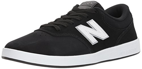 New Balance Men's 424v1 Lifestyle Skate Numeric Sneaker, Black/White, 8 2E US