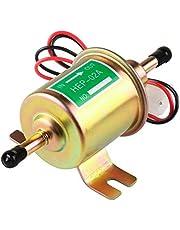 Electric Fuel Pump 12v Universal Inline Fuel Pump Low Pressure 2.5-4 PSI Gas Diesel Transfer Fuel Pump for Carburetor Lawnmover Boat Carter HEP-02A