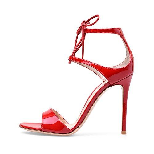 Soirée Taille Femme A6 Sexy De Sandales Transgenre KJJDE Fête Club Talon Grande Red Haut 35 Mariage Mode TLJ Cuir De Plateforme Verni Tg6dqwd