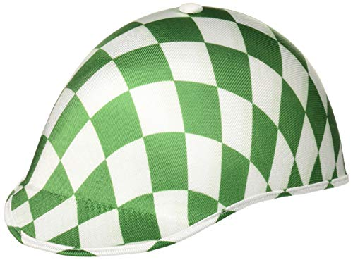 HMS Unisex Jockey HAT-Adult Size, Kelly Green/White Check, one -