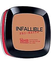 L'Oreal Paris Infallible Pro-matte Powder Foundation, Sun Beige (# 500), 9g