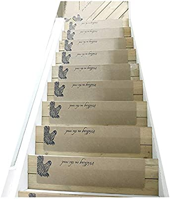 GYL Alfombras de escalera Alfombra de Escalera, de Alta Densidad, Cubierta de Caucho Antideslizante, Cubierta de Goma Antideslizante, Cubierta de Goma Cubierta Interior Antideslizante Alfombras para e: Amazon.es: Hogar