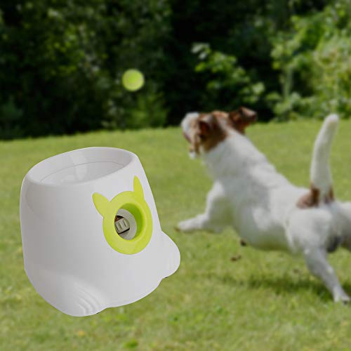 LUCKYERMORE Automatic Dog Ball Launcher Thrower Interactive Throwing and Fetch Dog Toy Mini Tennis Balls for Dog Indoor Outdoor Playing by LUCKYERMORE (Image #1)